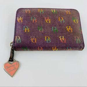 Dooney & Bourke Zip Around Purple Wallet